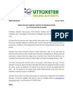 Arena Racing Company Invests in Drainage Work at Uttoxeter Racecourse