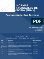 Presentaciones NIA 700-799