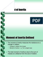 Moment of Inertia Summary