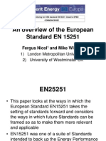 An Overview of en 15251