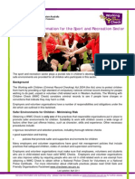 Factsheet 11 Information for Sport and Recreation Sector 042011
