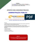 Apostila para concurso de Administração pública do Achei concursos