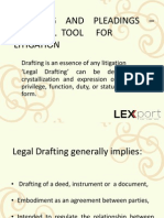 Darfting and Pleading Slides