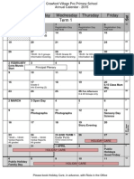 Calendar of Events - 4 Pager 2015