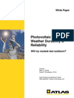 Photovoltaic Module Weather Durability & Reliability