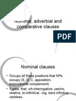 Nominal, Adverbial, Comparative