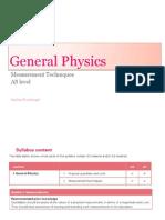 Ch 1 - GP - (b) Measurement Techniques
