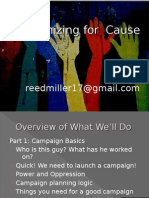 General Concepts in Grassroots Campaign Organizing