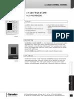 Camden CV-626SW Data Sheet