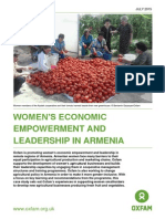 Women's Economic Empowerment and Leadership in Armenia