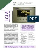 LCI 80 Standard Line Control Display