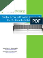 Nimble Self-Install Document