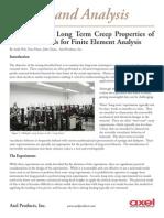 Measuring the Long Term Creep Properties of Plastics Materials