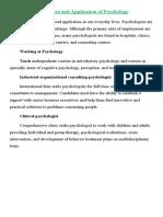 Nature & Application of Psychology
