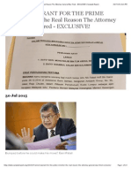 ARREST WARRANT FOR THE PRIME MINISTER! - The Real Reason The Attorney General Was Fired - EXCLUSIVE! | Sarawak Report