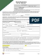 2015-2016 Student Registration Form