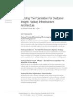 Forrester Hadoop Infrastructure Architecture