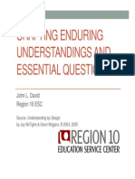 Essential Question and Enduring Understanding Tutorial
