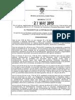 Decreto 1123 Del 27 de Mayo de 2015 (1)