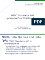 July 2015 FGDC Standards WG update