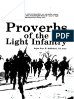 Light Infantry Proverbs