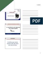 A importancia da liderança nas organizações -Modo de Compatibilidade