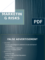 Marketing Risks