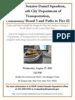 South Street Median Meeting Flyer