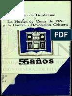 Virgen de Guadalupe y La Huelga de Curas de 1926 y La Contra Revolucion Cristera