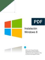 Evidencia Informe Instalacion Windows 8