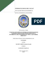 Tesis Cálculo de Daños Económicos Por El Fenómeno El Niño - Ricardo Machuca