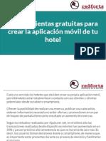 3 herramientas gratuitas para crear la aplicación móvil de tu hotel