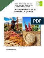 Manejo Agronomico en El Cultivo de La Quinua-ica