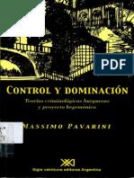 Massimo Pavarini - Control y Dominación