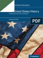 AP U.S. History Course and Exam Description
