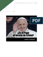 Es El Papa El Vicario de Cristo