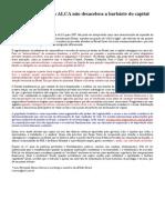 A Desaceleração Da ALCA Não Desacelera a Barbárie Do Capital