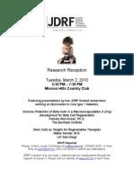 research reception invitation