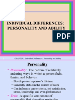 Individual Differences - Handout 3