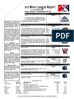 Minor League Report 15.07.30
