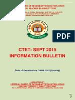 Ctet Sept 2015 Information Brochure