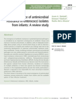 The emergence of antimicrobial resistance in enterococci isolates from infants