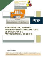 diapositivas de pasteurizacion de la leche