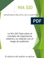 Nia 320-importancia relativa
