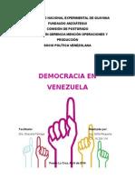 Ensayo Democracia en Venezuela