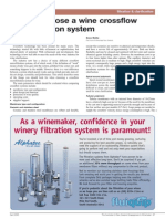 How to Choose a Wine Crossflow Microfiltration System
