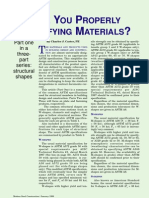 ARE YOU PROPERLY SPECIFYING MATERIALS? 1 of 3