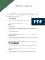 Defina Estructura y Elemento Psicologia