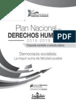 Encartado, Plan Nacional de Dertechos Humanos