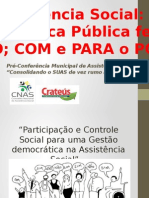Pré-Conferência Municipal de Assistência Social